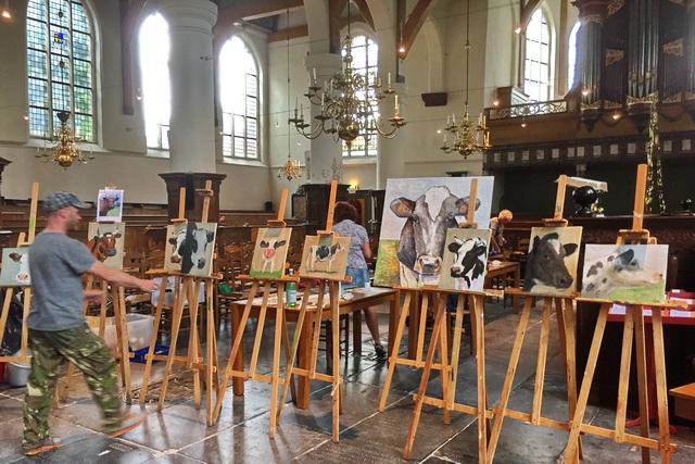 workshop koeien schilderen